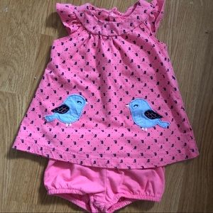 Baby girl dress and bubble buns